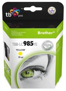 Ink. kazeta TB kompat. s Brother LC 985 YE 100% N