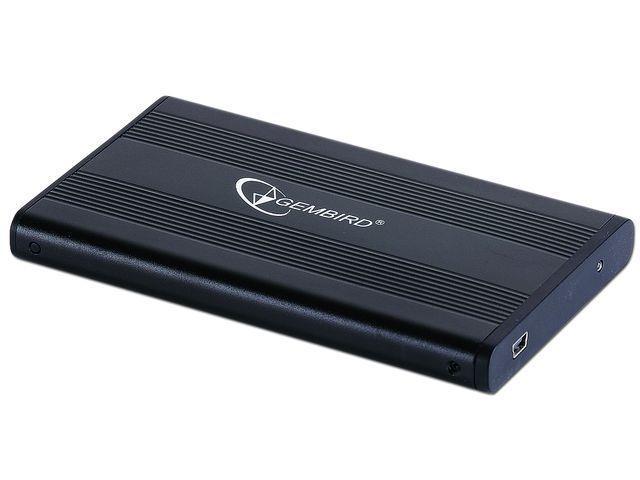 Gembird Externí USB 2.0 case, 2,5'' SATA, černý hliník, HDD/SSD