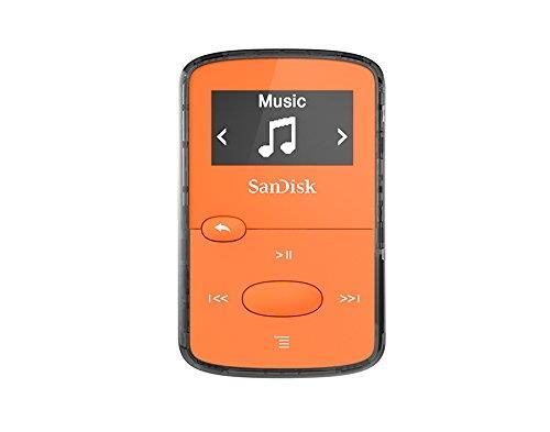 Sandisk CLip Jam MP3 přehrávač 8GB, microSDHC, Radio FM, oranžový