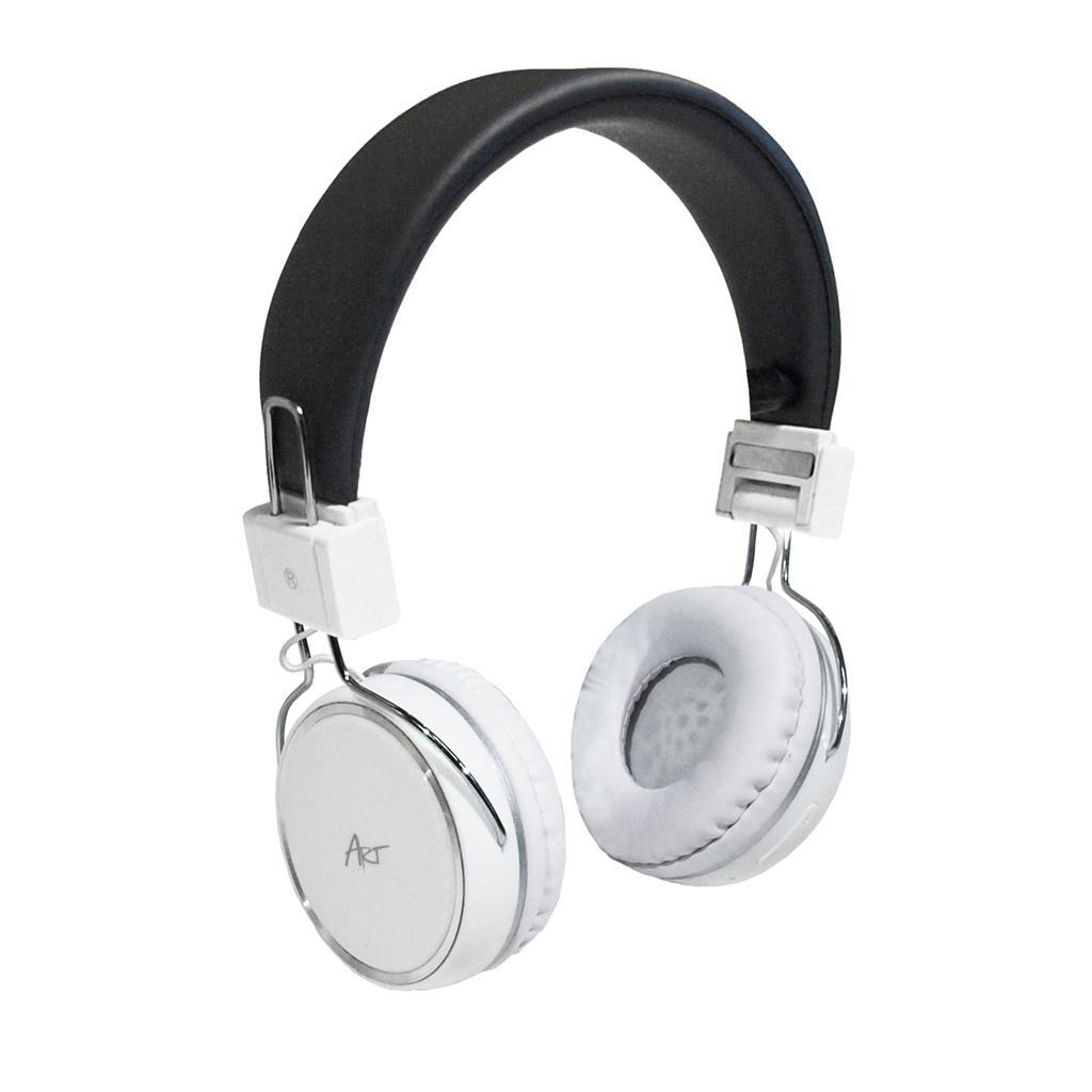 ART AP-B02-W Bluetooth sluchátka mikrofonem bílá (TOUCH)