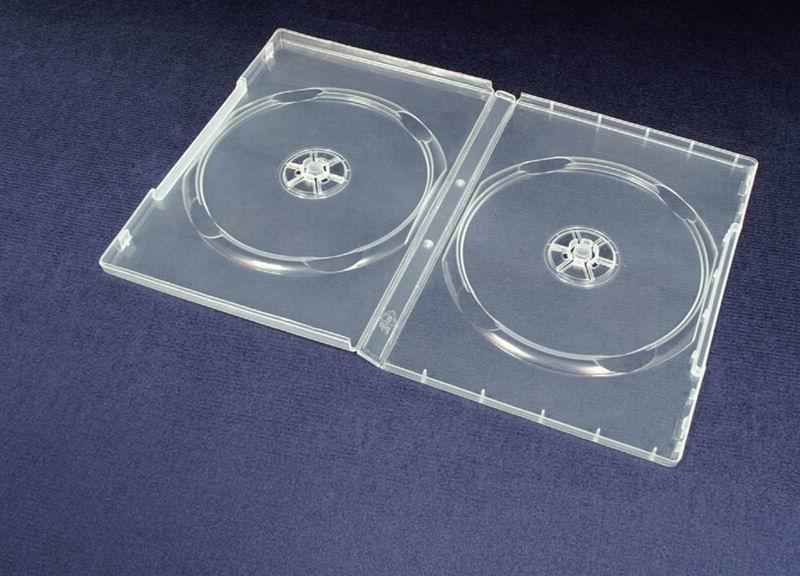 Esperanza Plastové krabičky na 2 DVD 14mm | 100 ks, transparentní