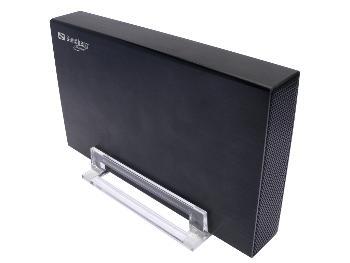 Sandberg externí HDD box 3.5'', USB 3.0, SATA, hliníkový, stojan, černý