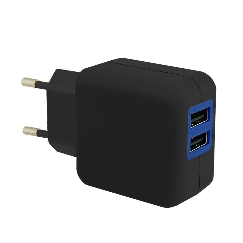Qoltec AC adaptér pro Smartphone/ Tablet | 5V | 2.1A | 2xUSB