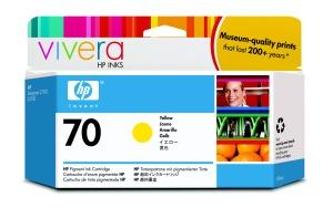 HP C9454A No. 70 Yellow Ink Cart pro DJ Z2100, 130ml