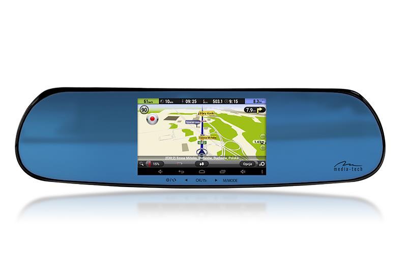 U-DRIVE NAVIGATION - Rear-view car mirror with GPS navigation system, 2 car dvr