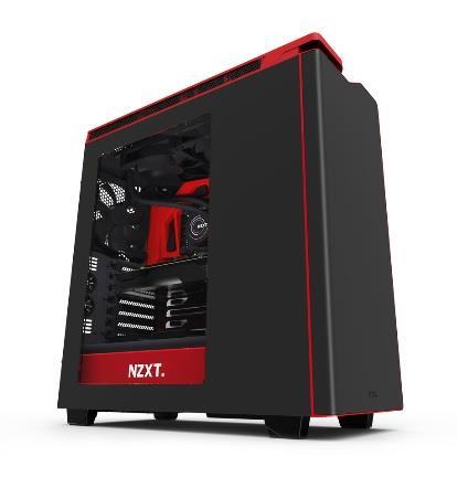 NZXT PC skříň H440, matná černo-červená, s oknem