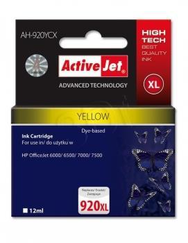 Kazeta ActiveJet AH-920YCX   Yellow   12 ml   HP HP 920XL CD974AE