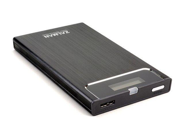 Zalman externí box ZM-VE350, HDD SATA 2.5, USB 3.0, černý