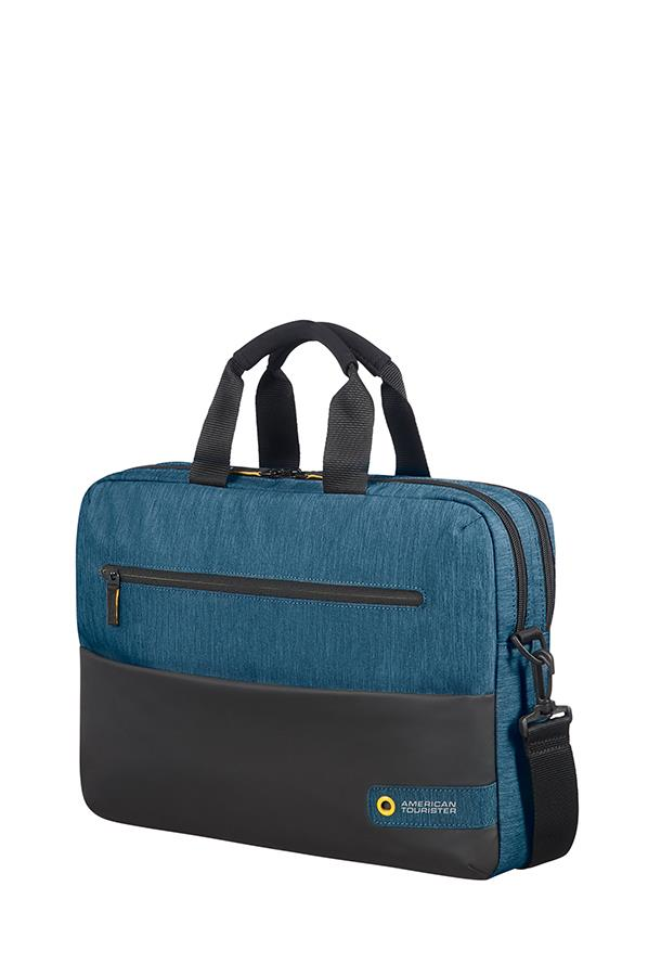 Bag American Tourister 28G19004 CD 15,6'' comp, doc, tblt, pock, blk/blue