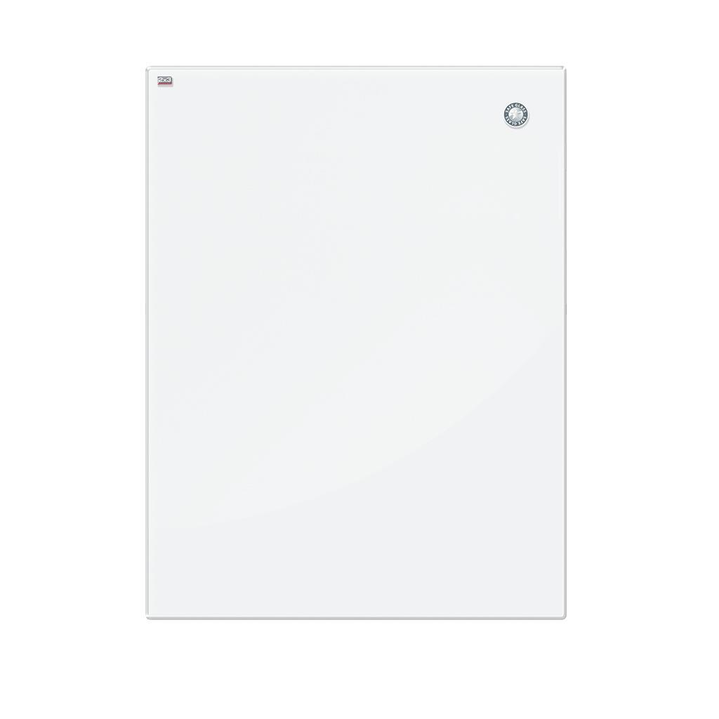 white magnetic glass board 120x90cm