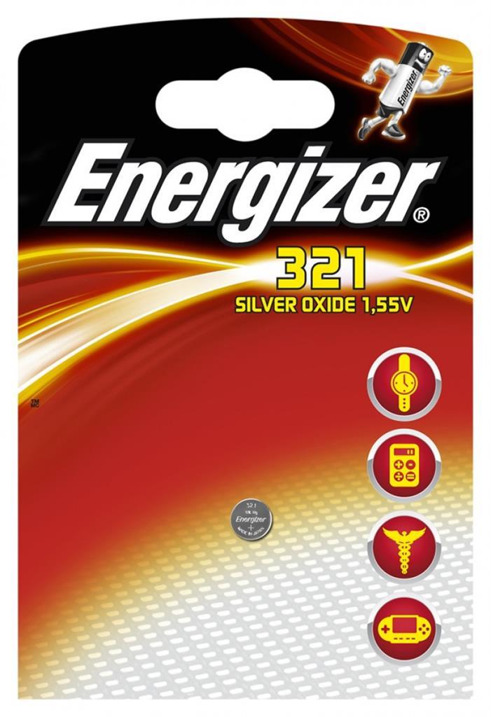 Baterie do hodinek (knoflíková baterie), ENERGIZER, 321