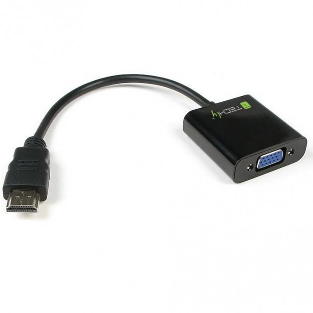Techly Konvertor HDMI samec na VGA samici