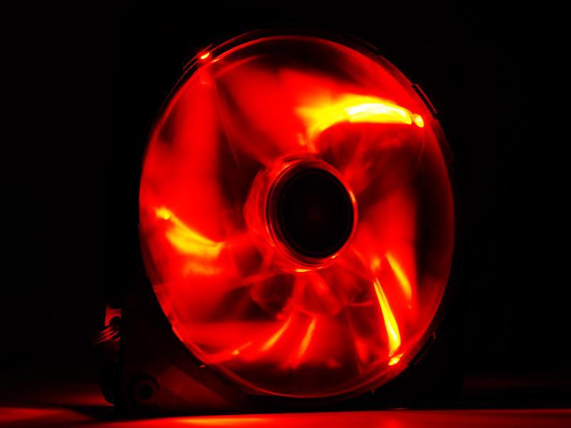 NZXT High Airflow ventilátor 140x140x25mm, červený LED