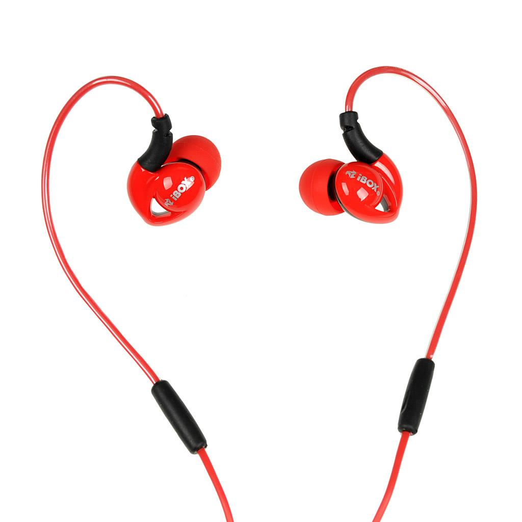 I-BOX S1 Sport sluchátka Audio Mobile RED/BLACK