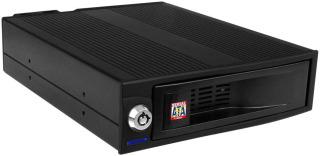 Interní box IB-170SK-B 5.25'' pro 3.5'' SATA HDD, ventilátor,hliník, č.