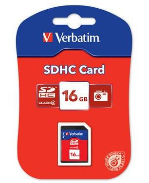 VERBATIM SecureDigital SDHC 16GB Class4