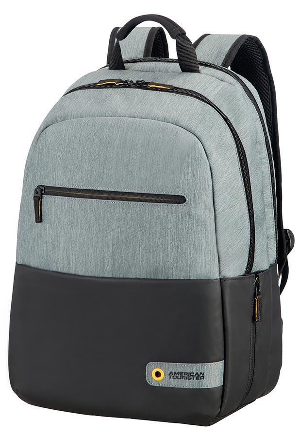 Backpack American Tourister 28G09002 CD 15,6'' comp, doc, tblt, pockets, blck/gr