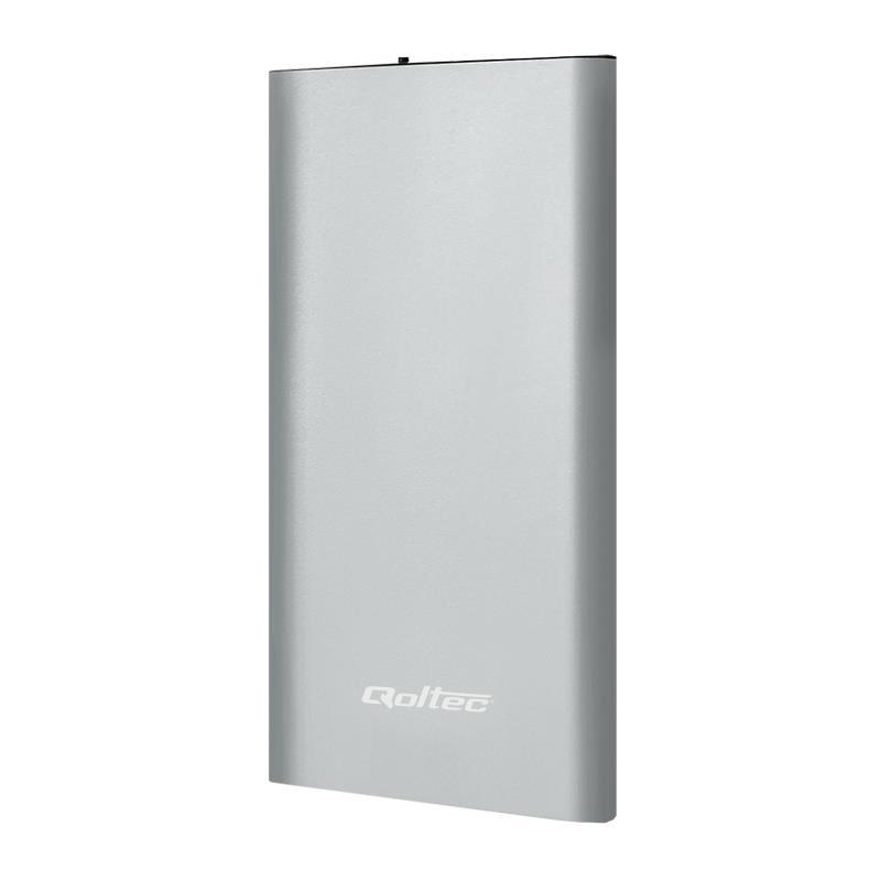 Qoltec Power Bank externí baterie pro smartphone 4000mAh, Silver, Li-Poly