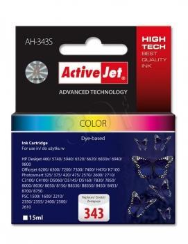 Inkoustová kazeta ActiveJet AH-343S | Barevná | 15 ml | HP HP 343 C8766EE