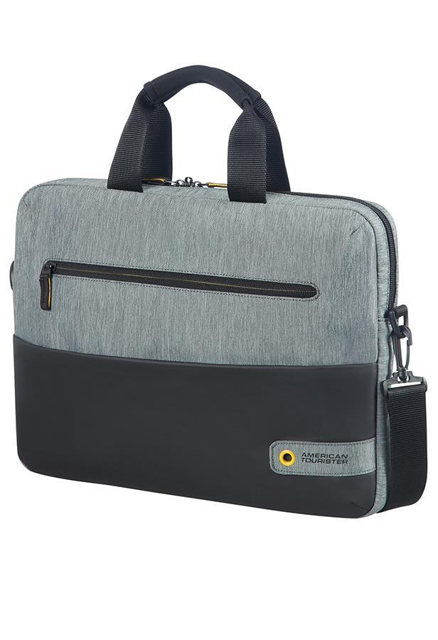 Bag American Tourister 28G09003 CD 14,1'' comp, doc, tblt, pock, blk/grey