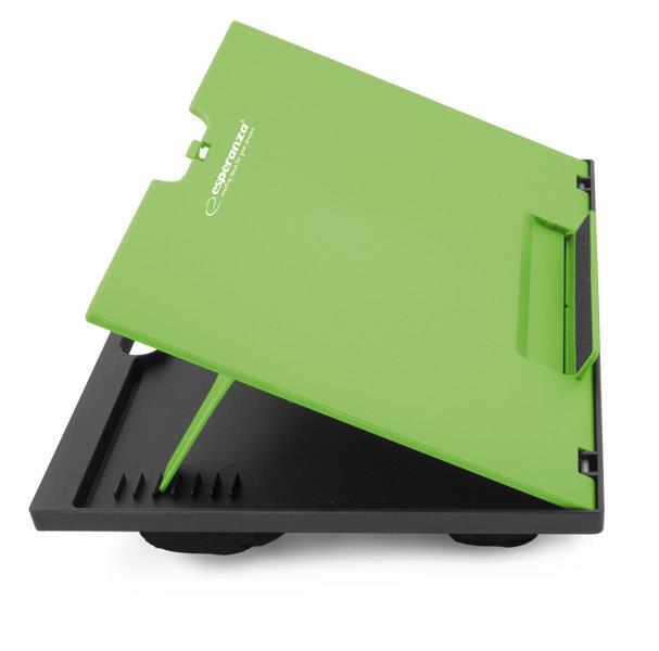 Esperanza EA154G KUKENAN nastavitelná podložka pod notebook na klín, zelená