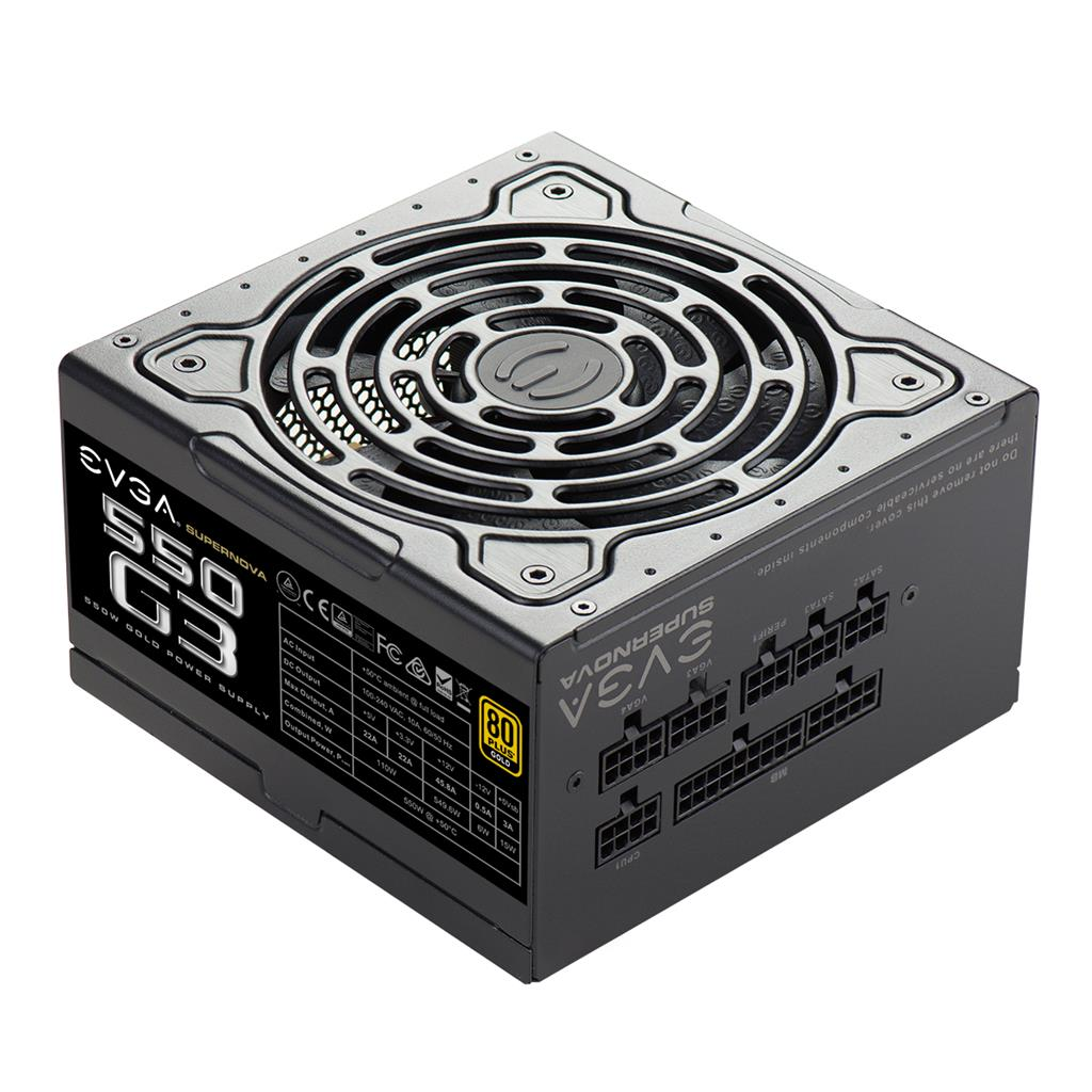 PSU EVGA SuperNOVA 550 G3 550W, 80 PLUS Gold, Full modular