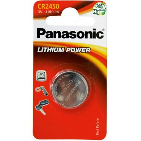 Panasonic Lithium Power knoflíková baterie CR2450, 1 ks, Blister