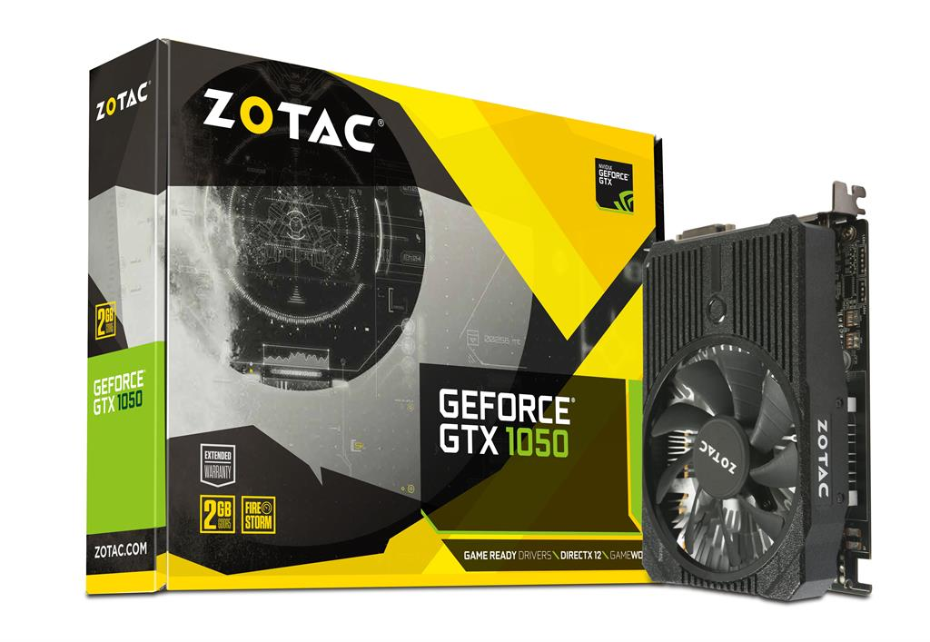 ZOTAC GeForce GTX 1050 Mini 128bit 2GB GDDR5 DVI-D, HDMI, Display Port