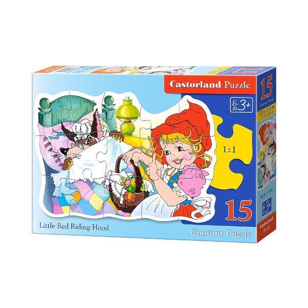 CASTOR contour puzzle 15 el. - Little Red Riding Hood