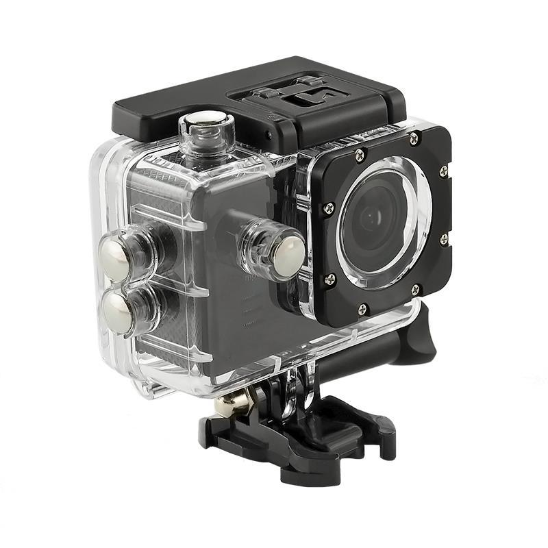 2.0'' Waterproof Sports Camera 4K QOLTEC for helmet/bike | Wi-Fi | black