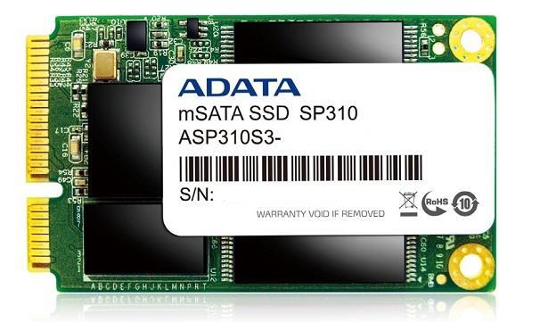 ADATA SSD Premier Pro SP310 64GB mSATA SATA2 MLC (440MB/s; 100MB/s), box