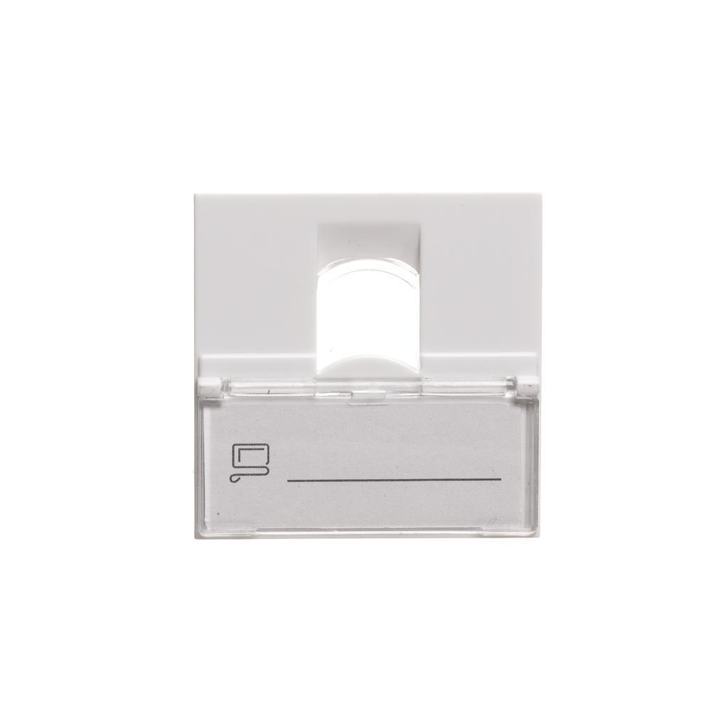 Netrack NBOX modul datové zásuvky úhlový 2M 1xkeys. s popis. rámečkem a krytkou