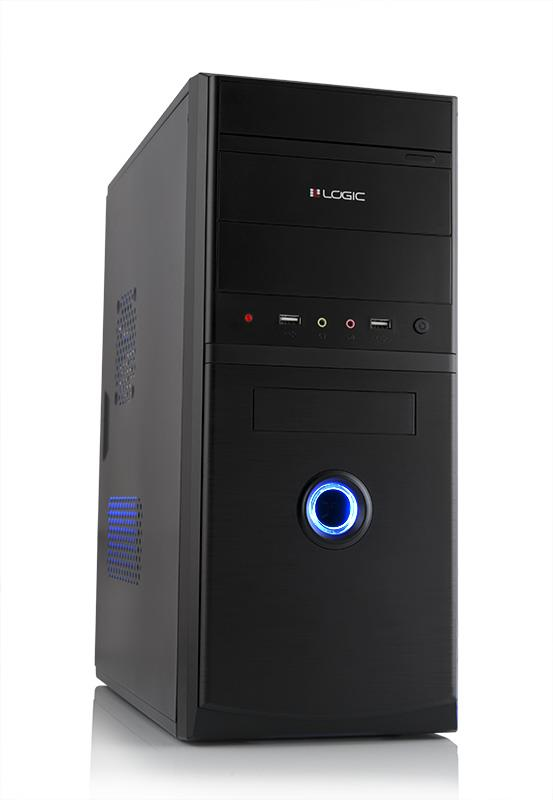 LOGIC PC skříň A10 Midi Tower, zdroj LOGIC 400W ATX PFC, USB 3.0