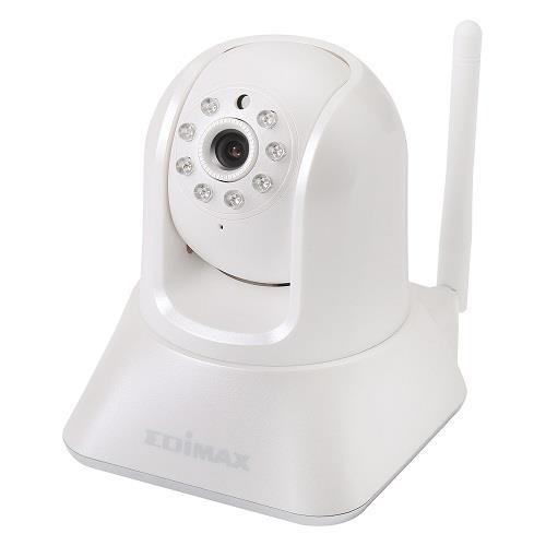 Edimax Night IR Wireless IP Camera, motorized pan/tilt, Plug&View, audio, AVI