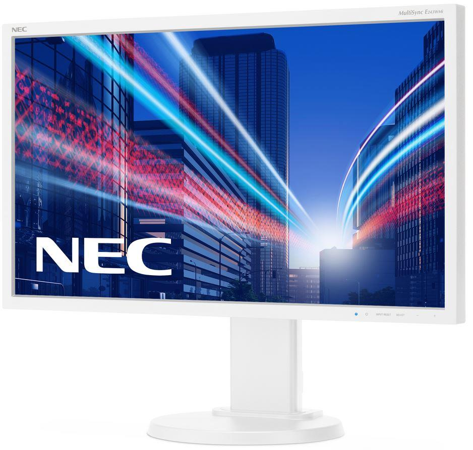 NEC LCD E243WMi 23,8'' LED IPS, 5ms, VGA/DVI/DP, repro, 1920x1080, HAS, pivot, b