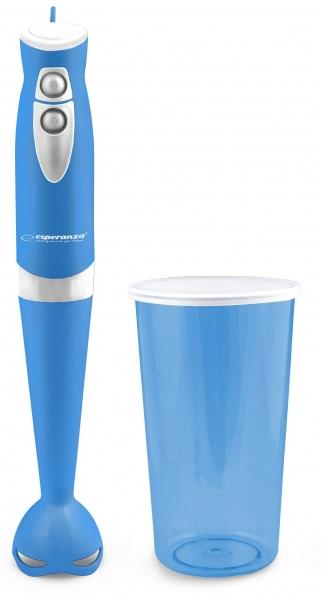 Esperanza EKM006B GELATO tyčový mixér s nádobou, modrý