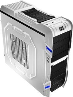 PC skříň Aerocool ATX GT-R WHITE EDITION, USB3.0, 0.7 SECC, bez zdroje