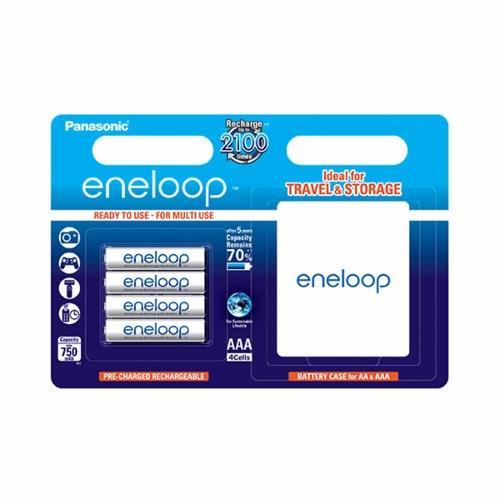 Panasonic Eneloop R03/AAA 750mAh, 4 ks, Blister + BOX