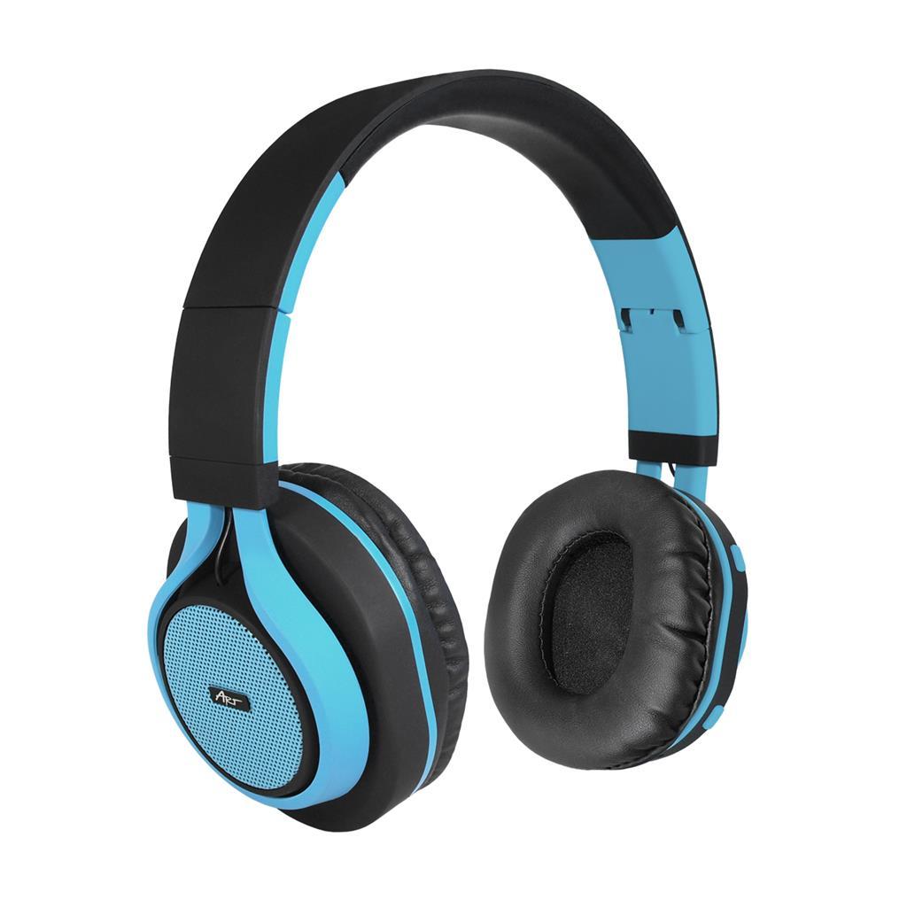ART Bluetooth Headphones with microphone AP-B04 black/blue