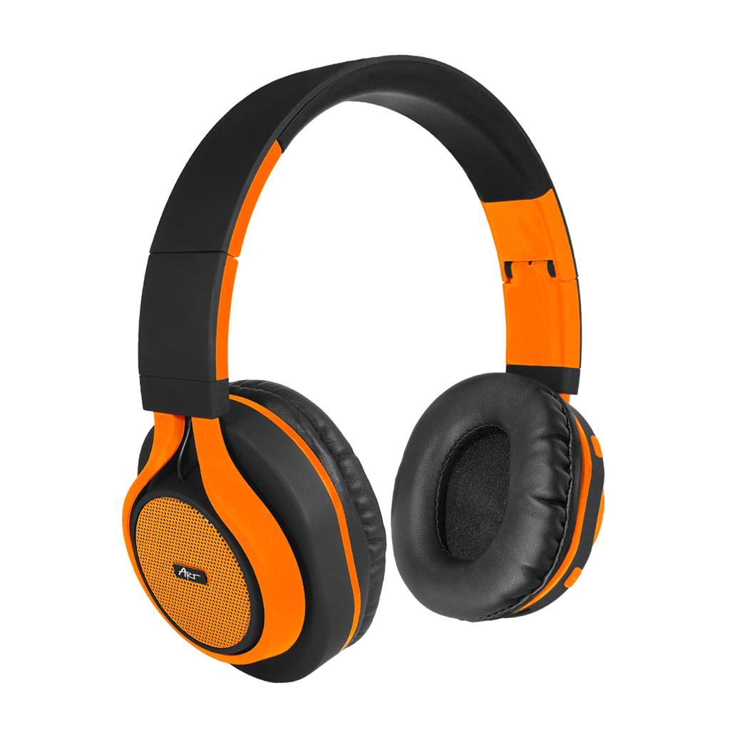 ART Bluetooth Headphones with microphone AP-B04 black/orange