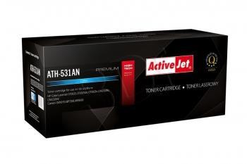 Toner ActiveJet ATH-531AN | Cyan | 2800 str. | HP CC531A (304A), Canon CRG-718C