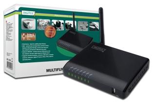 DIGITUS 4-Portový USB 2.0 HUB - Bezdrátový multifunkční Síťový server