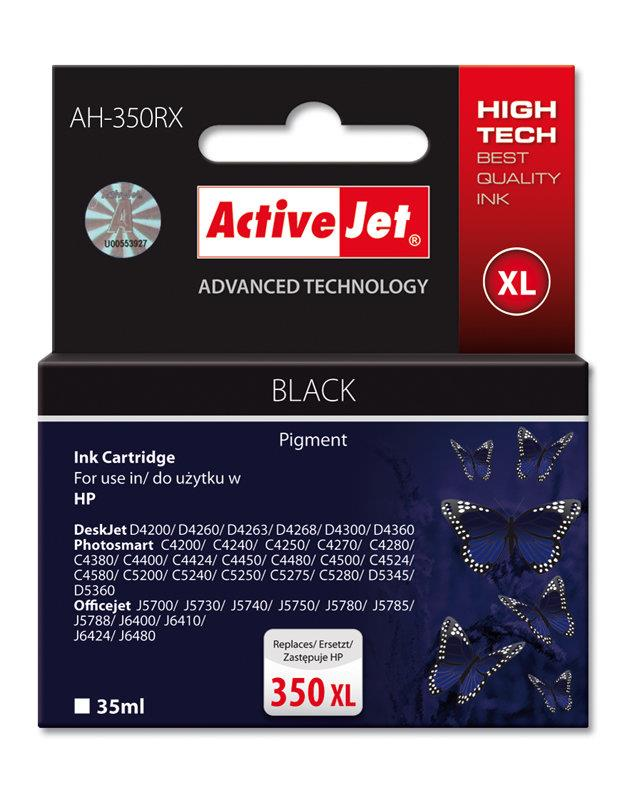 Ink ActiveJet AH-350RX | black | 35 ml | HP HP 350XL CB336EE