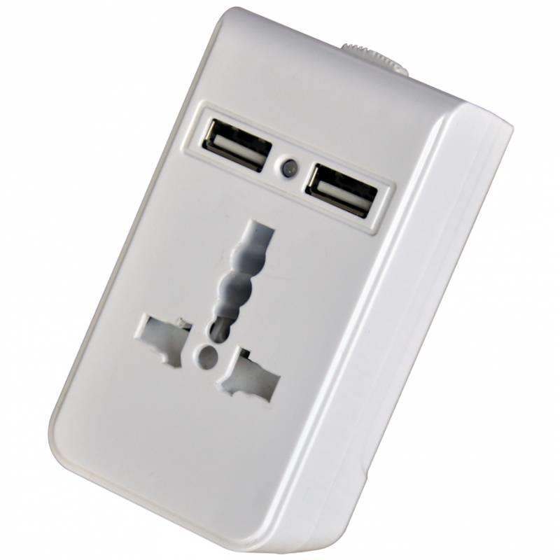 Techly Univerzální napájecí adaptér with USB charger 5V 1A