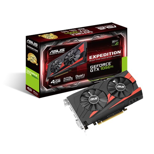 ASUS Expedition GeForce® GTX 1050 Ti eSports gaming 4GB GDDR5, HDMI, DVI-D, DP