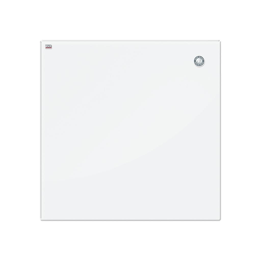 white magnetic glass board 45x45cm