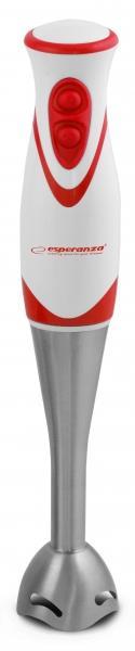 Esperanza EKM002R FRULLATO tyčový mixér, nerezový, bílo-červený