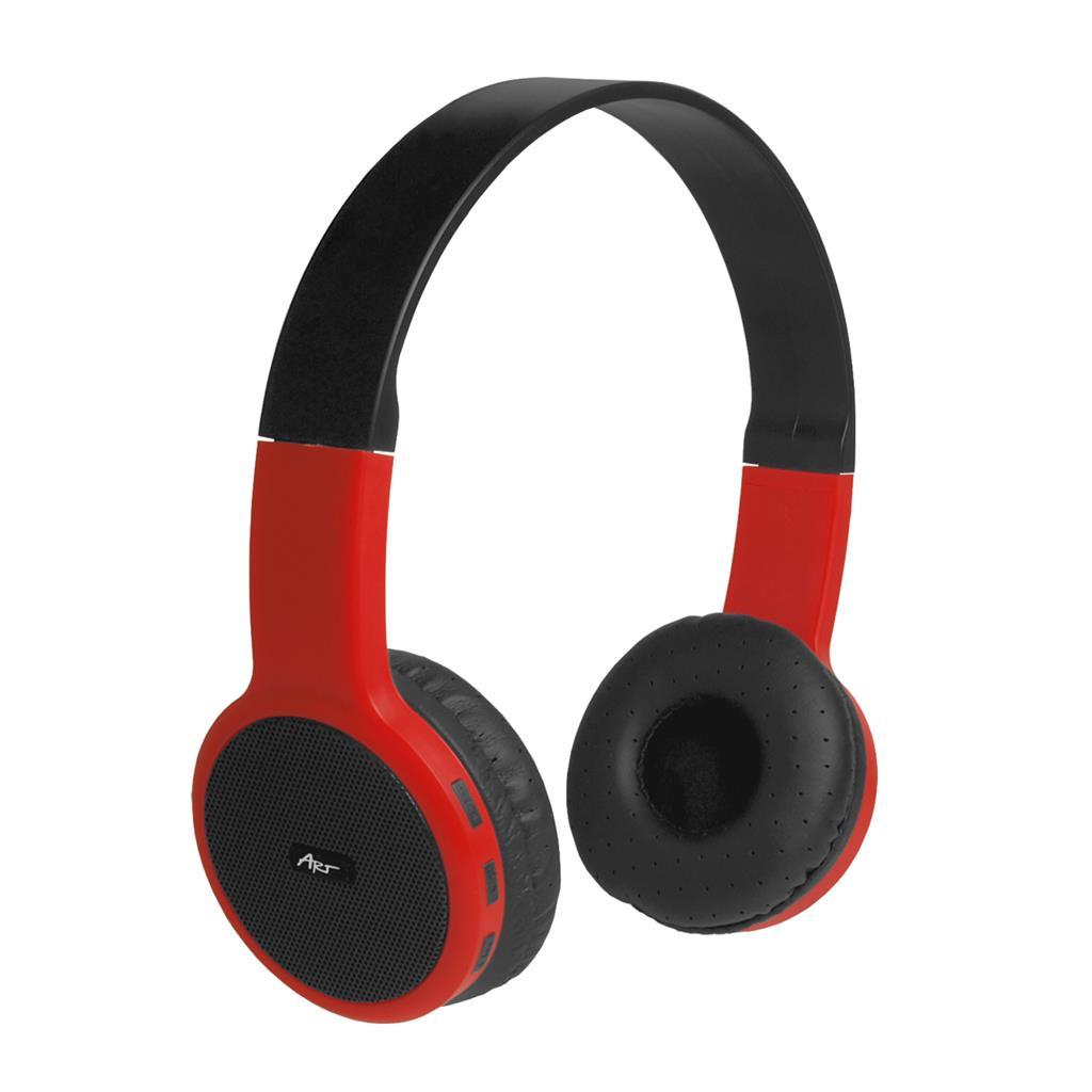 ART Bluetooth Headphones with microphone AP-B05 black/red
