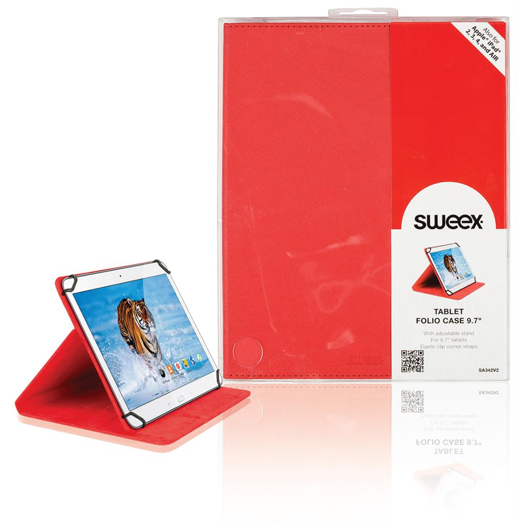 Sweex pouzdro pro tablet 9.7'' červené