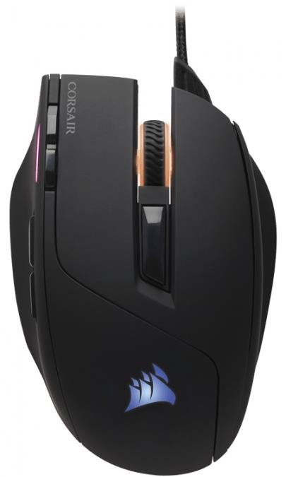 Corsair optická herní myš SABRE RGB, 10000 dpi, 8 tlačítek, černá